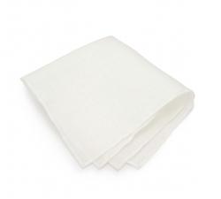 Белый платок-паше, нагрудный платок из хлопка