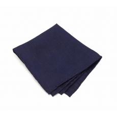 Синий платок-паше, нагрудный платок изо льна
