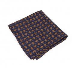 """Платок-паше """"Оранжевый огурец"""", шелковый нагрудный платок с узором пейсли"""
