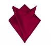 Бордовый платок-паше, шелковый нагрудный платок