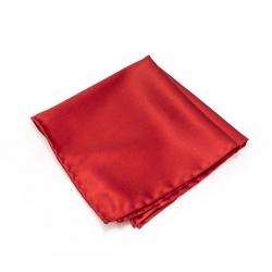 Красный платок-паше, шелковый нагрудный платок
