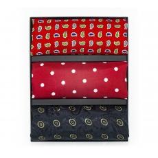 Подарочный набор нагрудных платков из натурального шелка №1