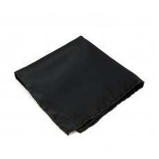 Черный платок-паше, шелковый нагрудный платок