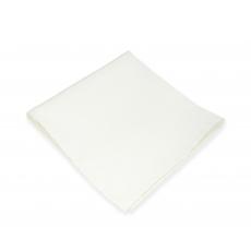 Белый платок-паше, шелковый нагрудный платок
