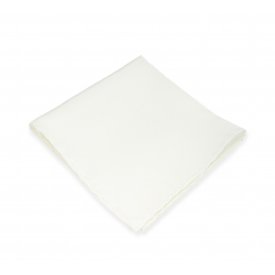 Белый платок-паше, шелковый нагрудный платок цвета айвори