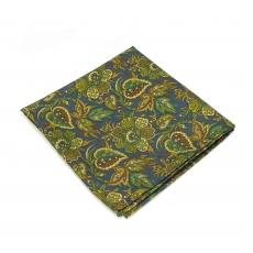 """Платок-паше """"Зеленая роща"""", шелковый нагрудный платок с узором"""