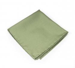 """Платок-паше """"Оливковый твил"""", шелковый нагрудный платок"""