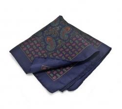 Платок-паше №2, шелковый нагрудный платок с узором пейсли