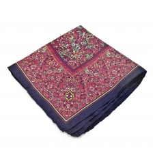 Платок-паше №3, шелковый нагрудный платок с мелким цветочным узором
