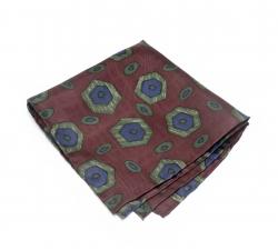 Платок-паше №6, шелковый нагрудный платок с узором