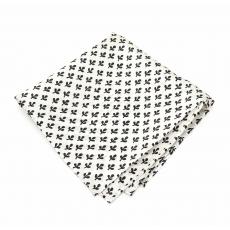 Платок-паше с узором Клевер, шелковый нагрудный платок