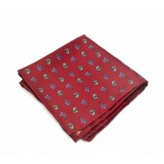"""Платок-паше """"Лошадки"""", красный шелковый нагрудный платок с узором"""