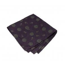 """Платок-паше """"Бордовый пейсли"""", шелковый нагрудный платок с узором пейсли"""
