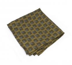 """Платок-паше """"Золотая геометрия"""", шелковый нагрудный платок с узором"""