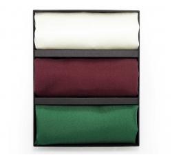 Подарочный набор нагрудных платков из натурального шелка №2