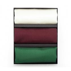 Подарочный набор нагрудных платков из натурального шелка