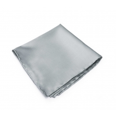 Серый платок-паше из натурального шелка