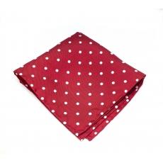 """Платок-паше """"Красный в горошек"""", шелковый нагрудный платок"""