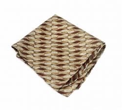 """Платок-паше """"Жемчужная ракушка"""", нагрудный платок из натурального шелка"""
