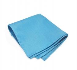 """Платок-паше """"Лазурный берег"""", голубой нагрудный платок из шерсти"""