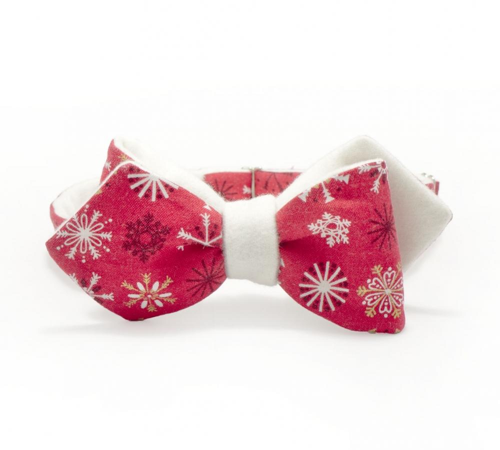 "Галстук-бабочка ""Дед Мороз"""