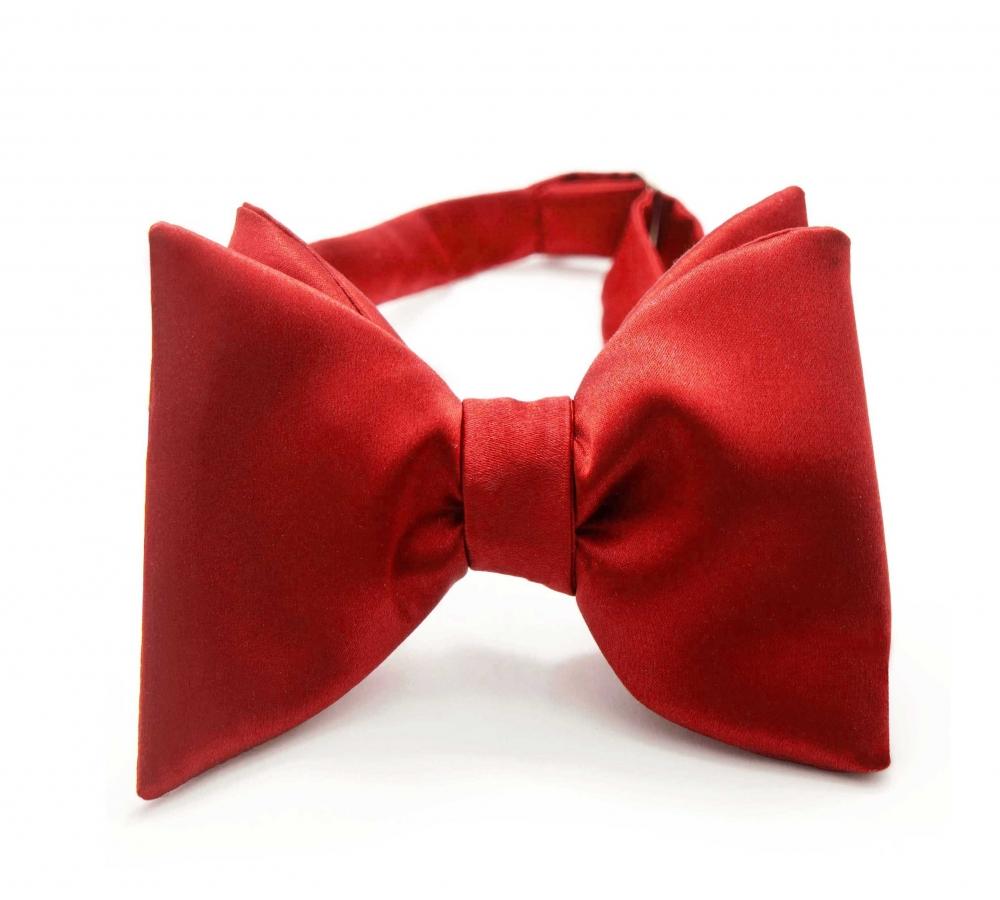 Красная галстук-бабочка №4, шелк