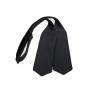 Черная галстук-бабочка №2, натуральный шелк