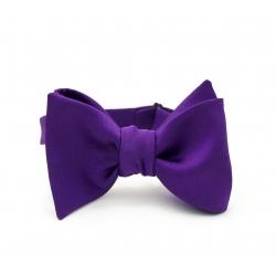 Фиолетовая  галстук-бабочка, шелк