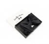 Черная галстук-бабочка №4, натуральный шелк