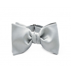 Серая галстук-бабочка, самовяз из натурального шелка