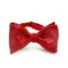 Красная галстук-бабочка, самовяз из натурального шелка