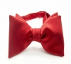 Красная галстук-бабочка, натуральный шелк