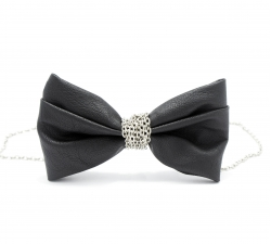 Женская галстук-бабочка, иск.кожа