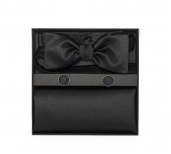 """Подарочный набор """"Люди в черном"""" (галстук-бабочка, платок-паше, запонки)"""