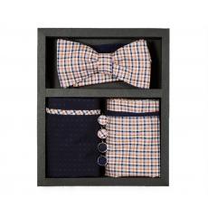"""Набор """"Ранчо"""" (галстук-бабочка, платки-паше, запонки)"""