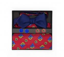 """Подарочный набор """"Мазарини"""" (галстук-бабочка, платок-паше)"""