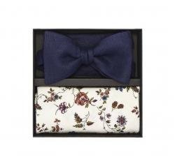 """Набор """"Льняная свадьба"""" (галстук-бабочка, платок-паше, запонки)"""