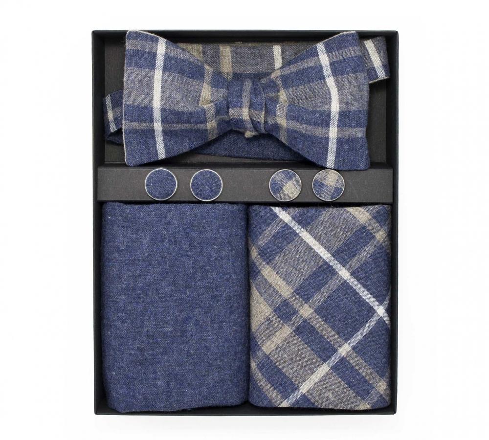 """Подарочный набор """"Доктор Ватсон"""" (галстук-бабочка с нагрудным платком и запонками)"""