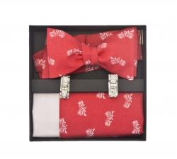 "Набор ""Ретромобиль"" (галстук-бабочка, платок-паше, запонки)"