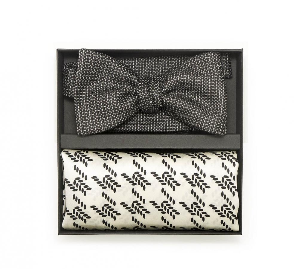 """Подарочный набор """"Шеффилд"""" (галстук-бабочка, платок-паше)"""