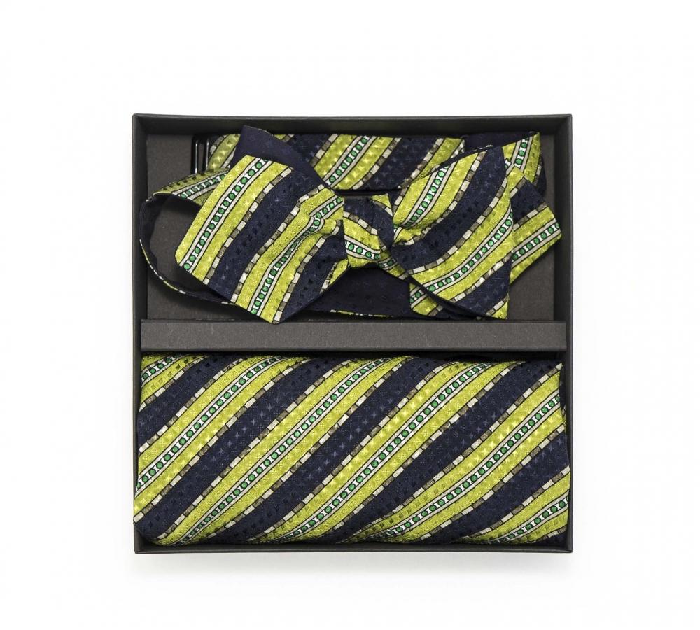 """Набор """"Тропикана"""" с галстук-бабочкой из шелка, платком-паше"""