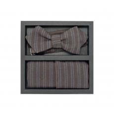 """Набор """"Трюфель"""" (галстук-бабочка, платок-паше, запонки)"""