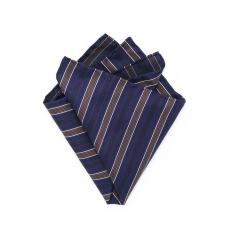 """Платок-паше """"Аристократ"""", синий нагрудный платок в полоску"""