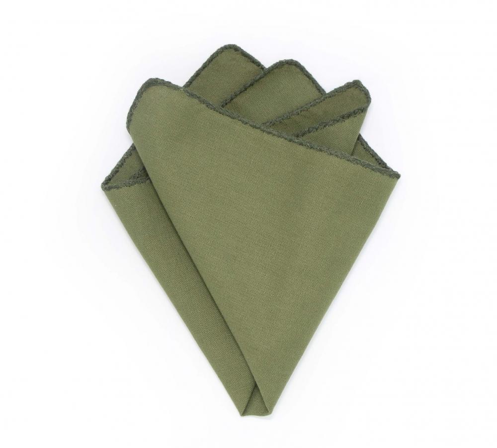 "Платок-паше ""Цветы Кумиру"", зеленый лён"