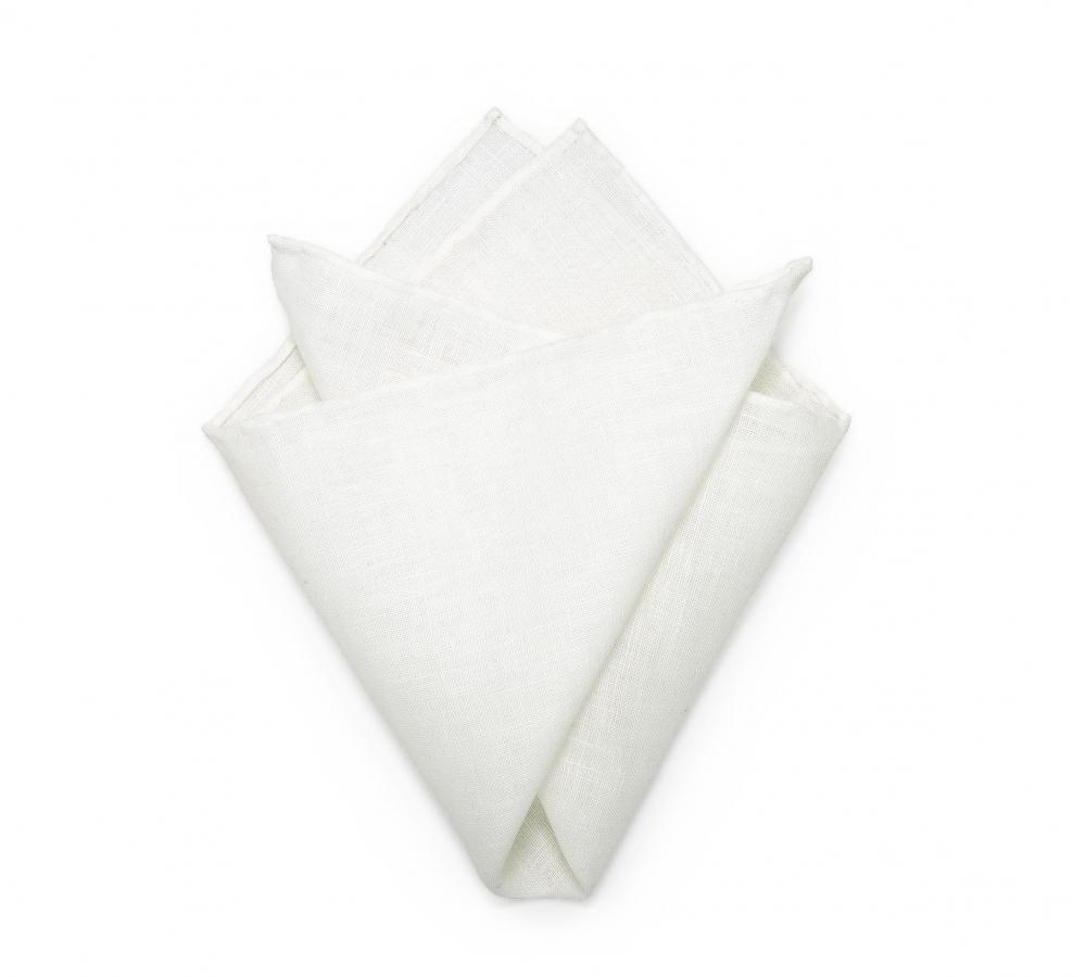 Белый платок-паше, нагрудный платок изо льна