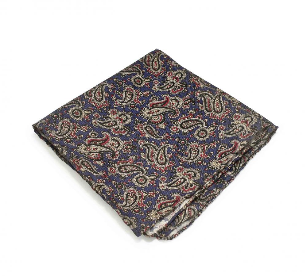 """Платок-паше """"Людвиг"""", шелковый нагрудный платок с узором пейсли"""