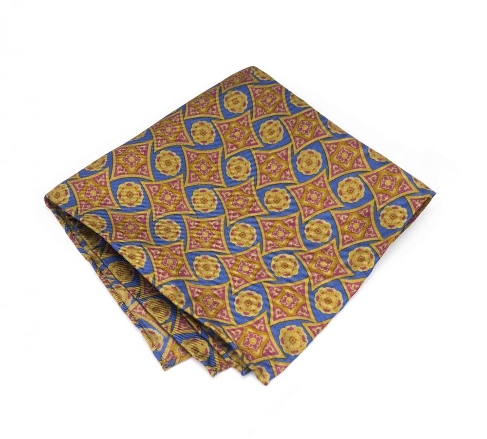 """Платок-паше """"Летучий корабль"""", шелковый нагрудный платок с узором"""