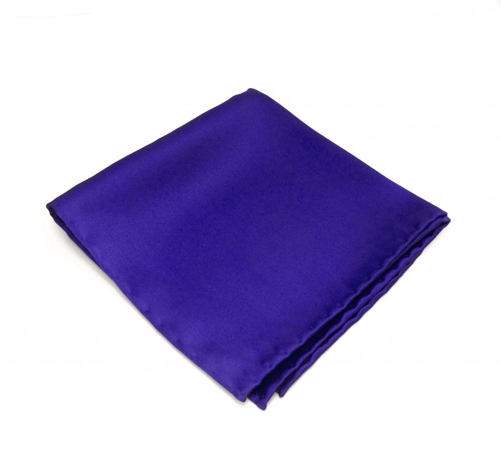 Синий платок-паше из натурального шелка