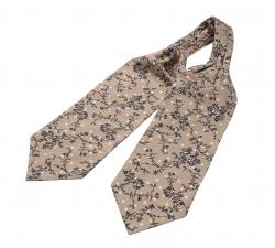 """Шейный мужской платок Аскот с узором """"Кофейная лоза"""" из натурального шелка"""