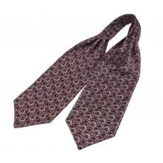 """Шейный мужской платок Аскот с узором """"Каменный цветок"""" из натурального шелка"""